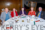 Richard Casey, Tess McCarthy, Josie Connor, Margaret and Liam O'Halloran attending the Causeway Active Retirement Christmas Party in the Ballyroe Heights Hotel on Sunday