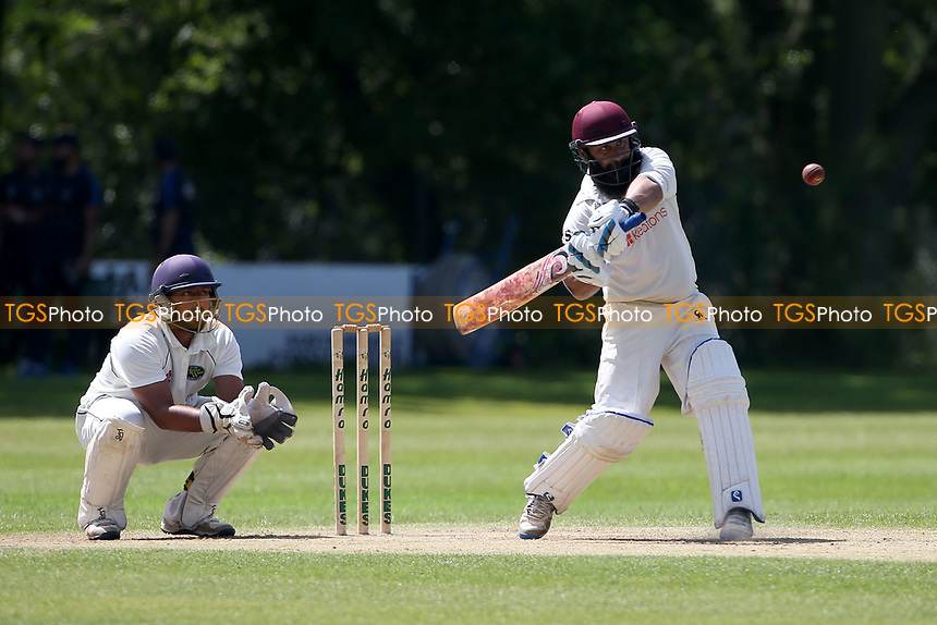 Adnan Akram in batting action for Wanstead during Wanstead and Snaresbrook CC vs Harold Wood CC, Hamro Foundation Essex League Cricket at Overton Drive on 17th July 2021