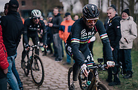 World Champion Peter Sagan (SVK/Bora-Hansgrohe) during parcours recon of the 116th Paris-Roubaix 2018, 3 days prior to the race