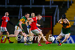 Sean Powter, Cork, in action against Paul Murphy, Kerry during the Munster GAA Football Senior Championship Semi-Final match between Cork and Kerry at Páirc Uí Chaoimh in Cork.