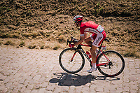 Nicolas Edet (FRA/Cofidis) on pavé sector #14<br /> <br /> Stage 9: Arras Citadelle > Roubaix (154km)<br /> <br /> 105th Tour de France 2018<br /> ©kramon