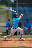 Miami Marlins Michael Hernandez (20) during a Minor League Extended Spring Training game against the New York Mets on April 12, 2019 at First Data Field Complex in St. Lucie, Florida.  (Mike Janes/Four Seam Images)