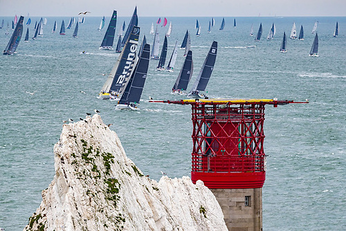 Spectacular array of yachts at the start in Cowes © ROLEX/Carlo Borlenghi
