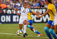 San Diego, CA - Sunday July 30, 2017: Mallory Pugh during a 2017 Tournament of Nations match between the women's national teams of the United States (USA) and Brazil (BRA) at Qualcomm Stadium.