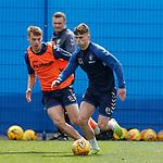 03.05.2019 Rangers training: Lewis Mayo and Josh McPake