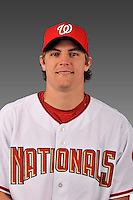 14 March 2008: ..Portrait of Patrick Nichols, Washington Nationals Minor League player at Spring Training Camp 2008..Mandatory Photo Credit: Ed Wolfstein Photo
