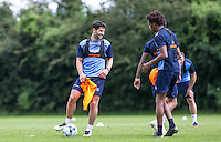 Joe Jacobson smiles during the Wycombe Wanderers 2016/17 Pre Season Training Session at Wycombe Training Ground, High Wycombe, England on 1 July 2016. Photo by Andy Rowland / PRiME Media Images.