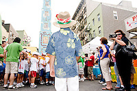 """At the """"Dancing of the Children's Giglio"""" on July 7, 2006."""