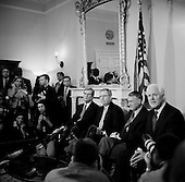 Washington DC, .District of Columbia.USA.February 5, 2007..Republican Senators (left to right) Trente Lott, Mitch McConnell, Jon Kyl and John Cornyn hold a press conference on the proposed Iraq resolution against President Bush's build up for the war in the Capital building.....