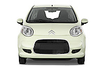Straight front view of a 2009 - 2012 Citroen C1 Airplay 3-Door Hatchback.