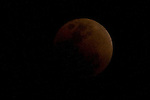 View of the moon at 21:12:16 hrs, during the total lunar eclipse in Mexico City, February 20, 2008. Photo by Heriberto Rodriguez