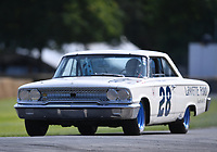 9th July 2021;  Goodwood  House, Chichester, England; Goodwood Festival of Speed; Day Two; John Breslow drives the 1963 Ford Galaxy 500 NASCAR in the Goodwood Hill Climb