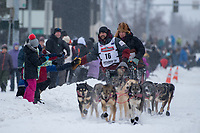 "Iditarod 2020 Ceremonial Start in downtown Anchorage, Alaska. Official Bio: ""Richie Diehl, 34, was born and raised in Aniak, Alaska. He graduated from the University of Alaska Anchorage in 2008 with a Bachelor of Science degree in Aviation Technology. He's been working as a carpenter in Aniak the last ten years. He says he began mushing ""as a kid"" and has been racing competitively in Alaska since 2010, having completed the Kusko 300 several times as well as the Paul Johnson Memorial 450 in its inaugural year, 2012, and the Iditarod seven times, his best finish being sixth in 2018. He lists his hobbies as hunting, flying, fishing and boating. """