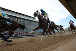 April 11, 2015: Mr. Z with jockey Ramon Vazquez aboard in the opening stretch of the Arkansas Derby at Oaklawn Park in Hot Springs, AR. Justin Manning/ESW/CSM