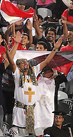 Egyptian fans welcome their team to the stadium before the match against Costa Rica during the FIFA Under 20 World Cup Round of 16 match between Egypt and Costa Rica at the Cairo International Stadium on October 06, 2009 in Cairo, Egypt.