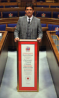 Pictured: Chris Coleman with his Freedom of the City honour Thursday 20 October 2016<br />