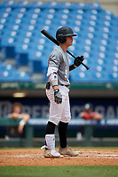 Roc Riggio (9) of Thousand Oaks High School in Simi Valley, CA during the Perfect Game National Showcase at Hoover Metropolitan Stadium on June 18, 2020 in Hoover, Alabama. (Mike Janes/Four Seam Images)