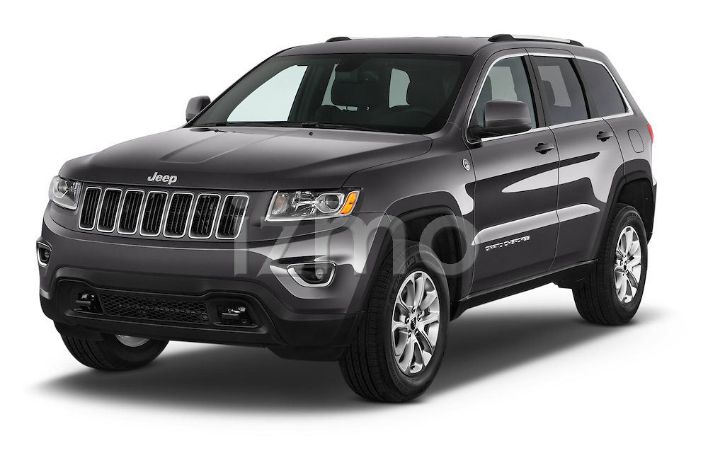 2014 JEEP Grand Cherokee Laredo 5 Door SUV Angular Front stock photos of front three quarter view