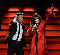 SMG_Marie Osmond_Donny Osmond_FLXX_BB&T_120713_01.JPG<br /> <br /> SUNRISE, FL - DECEMBER 07: Marie Osmond and Donny Osmond perform their Donny & Marie Christmas Tour at BB&T Center on December 7, 2013 in Sunrise, Florida. (Photo By Storms Media Group) <br /> <br /> People:  Marie Osmond_Donny Osmond<br /> <br /> Transmission Ref:  FLXX<br /> <br /> Must call if interested<br /> Michael Storms<br /> Storms Media Group Inc.<br /> 305-632-3400 - Cell<br /> 305-513-5783 - Fax<br /> MikeStorm@aol.com<br /> www.StormsMediaGroup.com