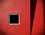 Red, white & black window abstract (Community Blood Center, Dayton Ohio)
