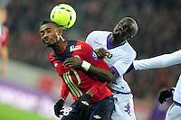 Salomon Kalou (LOSC) vs Cheik Mbengue (TFC) .Football Calcio 2012/2013.Ligue 1 Francia.Foto Panoramic / Insidefoto .ITALY ONLY