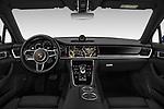 Stock photo of straight dashboard view of a 2018 Porsche Panamera 4 E-Hybrid 5 Door Hatchback
