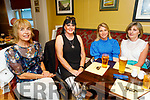 Eileen Barry, Mary Quirke, Sorcha Ní Shuilleabhain and Cait Griffin from Tralee enjoying the evening in the Brogue Inn on Friday.