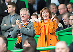 St Johnstone v Dundee United....17.05.14   William Hill Scottish Cup Final<br /> Dundee Utd fan Lorraine Kelly at the game with her husband<br /> Picture by Graeme Hart.<br /> Copyright Perthshire Picture Agency<br /> Tel: 01738 623350  Mobile: 07990 594431