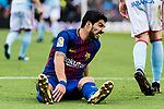 Luis Suarez of FC Barcelona reacts during the La Liga 2017-18 match between FC Barcelona and RC Celta de Vigo at Camp Nou Stadium on 02 December 2017 in Barcelona, Spain. Photo by Vicens Gimenez / Power Sport Images