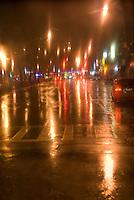Mysterious Street Scene, Allen Street on a Rainy Night, Chinatown/Lower East Side, Lower Manhattan, New York City, New York State, USA