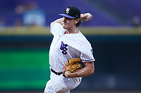 Winston-Salem Dash relief pitcher Declan Cronin (26) in action against the Hickory Crawdads at Truist Stadium on July 10, 2021 in Winston-Salem, North Carolina. (Brian Westerholt/Four Seam Images)