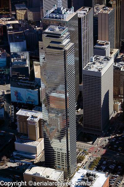 aerial photograph of Bank of America Plaza, 901 Main St,  Dallas, Texas