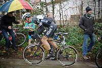 Tom Boonen (BEL) up the Taaienberg<br /> <br /> Omloop Het Nieuwsblad 2014
