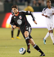 CARSON, CA – SEPTEMBER 18:  DC United Dejan Jakovic (5) during a soccer match at Home Depot Center, September 18, 2010 in Carson California. Final score LA Galaxy 2, DC United 1.
