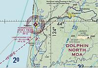 NOAA FAA sectional chart of Lake Woahink Seaplane Base (1O0)  south of Florence, Oregon