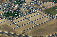 aerial photograph of residential housing development in the greater Sacramento metropolitan area,Central Valley, California
