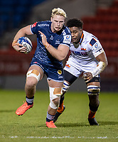 19th December 2020; AJ Bell Stadium, Salford, Lancashire, England; European Champions Cup Rugby, Sale Sharks versus Edinburgh; Jean-Luc du Preez of Sale Sharks powers with the ball