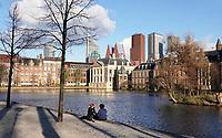 Nederland Den Haag -  maart 2021.  Regeringsgebouwen bij de Hofvijver.  Foto Berlinda van Dam / ANP / HH