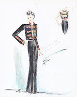 BNPS.co.uk (01202 558833)<br /> Pic: AuctionHub/BNPS<br /> <br /> Pictured: 1930s.<br /> <br /> A collection of fashion illustrations owned by Cecil Beaton have emerged for sale for £20,000.<br /> <br /> The drawings were given to the current seller, who has not been identified, by society and fashion photographer and costume designer Beaton as a thank you gift.<br /> <br /> Totalling over 500 designs from the 1920s and 30s, the illustrations have now been put up for auction with The Auction Hub, based in Westbury, Wiltshire.<br /> <br /> Cecil Beaton was an influential photographer, working for Vogue and Vanity Fair, as a war photographer, and taking society portraits of the Royal family and a host of celebrities.