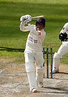 6th July 2021; Emirates Old Trafford, Manchester, Lancashire, England; County Championship Cricket, Lancashire versus Kent, Day 3; Luke Wood of Lancashire on his way to a half century