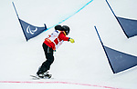 Sandrine Hamel, PyeongChang 2018 - Para Snowboard // Parasnowboard.<br /> Highlights of Team Canada during Para Snowboard competition // Faits saillants d'Équipe Canada lors d'une compétition de parasnowboard. 16/03/2018.