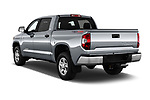 Car pictures of rear three quarter view of a 2020 Toyota Tundra SR5 5.7L Crew Max 4WD Short Bed 4 Door Pick Up angular rear