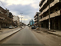 Syria 2019 Early morning through Qamishli, the dilapidated inner city area   Syria 2019 Traversée de Qamishli, rue délabrée du centre ville