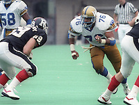 Darrell Patterson Winnipeg Blue Bombers 1986. Photo F. Scott Grant
