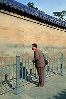 China, Peking, Echomauer beim Himmelsgewölbe des Himmelstempel (Tian Tan), Unesco-Weltkulturerbe