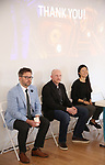 Kyle Wright (Shubert Ticketing), Matt Zarracina (True Tickets) and Mai Yamada (GalaPro) during the 2019 TRITIX Forum at Arts West Building on September 19, 2019 in New York City.