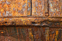 Rusted fishing boat detail.