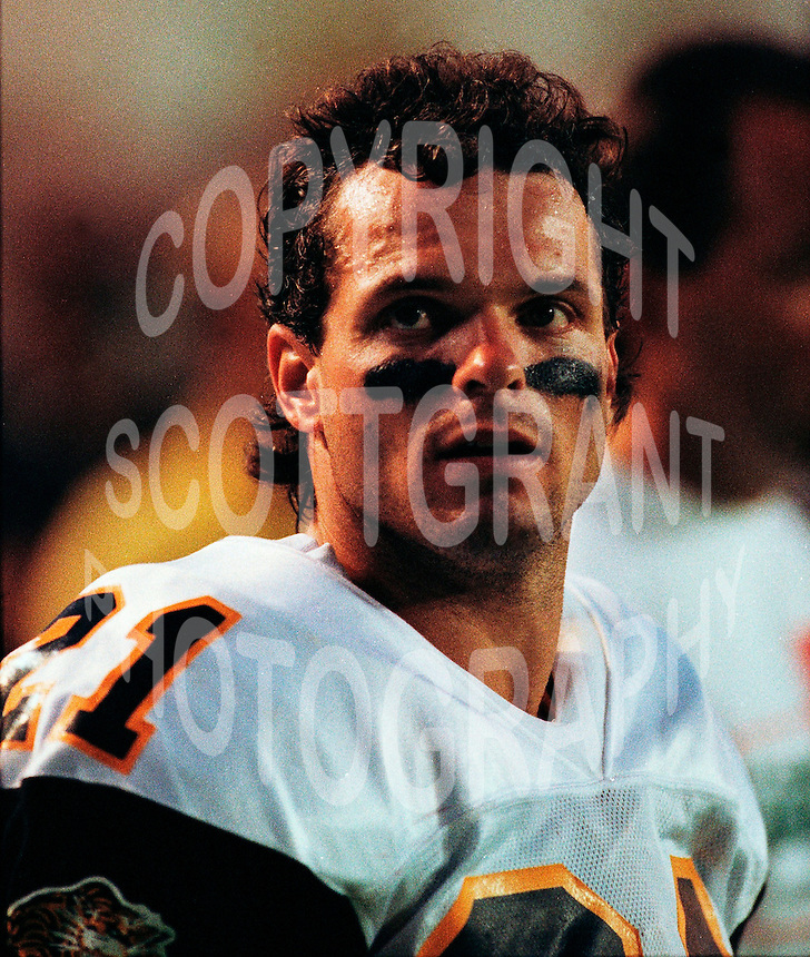 Wally Zatylny HamiltonTiger Cats 1991. Copyright photograph Scott Grant