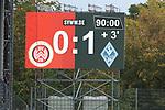 Endstand der Partie  beim Spiel in der 3. Liga, SV Wehen Wiesbaden - SV Waldhof Mannheim.<br /> <br /> Foto © PIX-Sportfotos *** Foto ist honorarpflichtig! *** Auf Anfrage in hoeherer Qualitaet/Aufloesung. Belegexemplar erbeten. Veroeffentlichung ausschliesslich fuer journalistisch-publizistische Zwecke. For editorial use only. DFL regulations prohibit any use of photographs as image sequences and/or quasi-video.