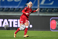 Sofie Svava of Denmark in action during the Women s EURO 2022 qualifying football match between Italy and Denmark at stadio Carlo Castellani in Empoli (Italy), October, 27th, 2020. Photo Andrea Staccioli / Insidefoto